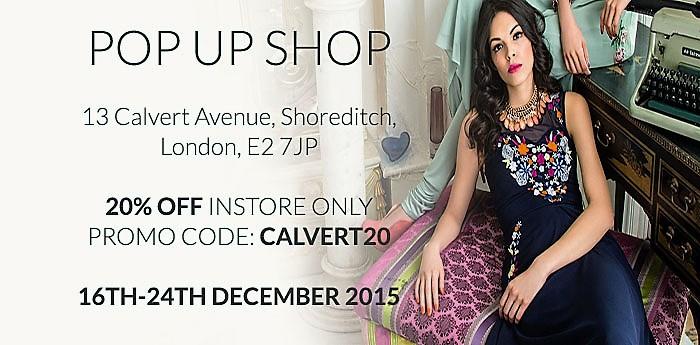 Visit Raishma's pop up shop in London's Shoreditch
